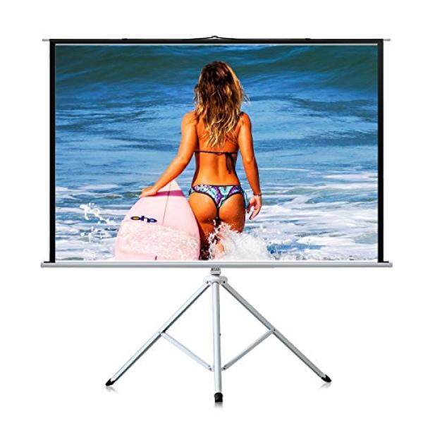 PERLESMITH Tripod Projector Screen 100 Inches - Height Adjustable Projection Screen for 3D HD 4:3 - Portable Projector Screen for Indoor, Outdoor, Home Theater, Office, Movies with Foldable Stand - intl