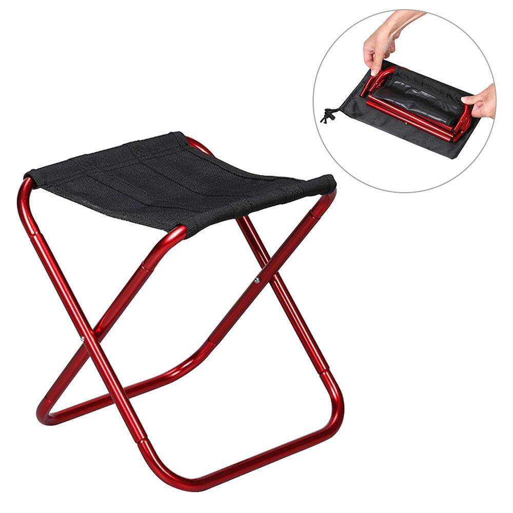 leegoal Portable Chairs Camping Hiking Fishing Travel BBQ Portable Folding Chair-Ultra-light And Convenient,27*25.5*23CM - intl