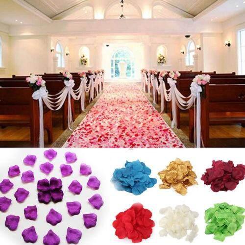 Linfang 100 Pcs Sutra Rose Kelopak Bunga Kelopak Bunga untuk Dekorasi Meja Pernikahan Perlengkapan Pesta Acara