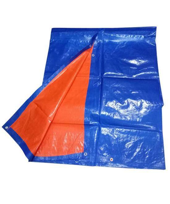 Canvas Blue  Orange Colour Tarpaulin Sheet Form [ 8 Kaki X 12 Kaki ]