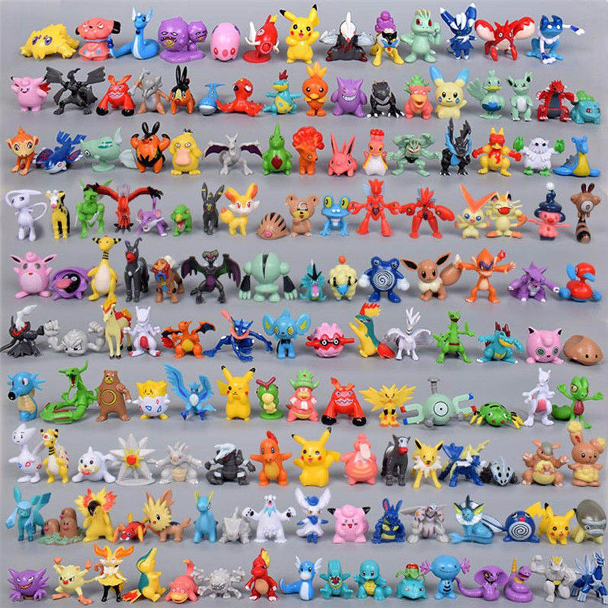 Hình ảnh 144pcs Pokemon Pocket Monster Figures Toy Random Character Model Kids Gift 2-3cm