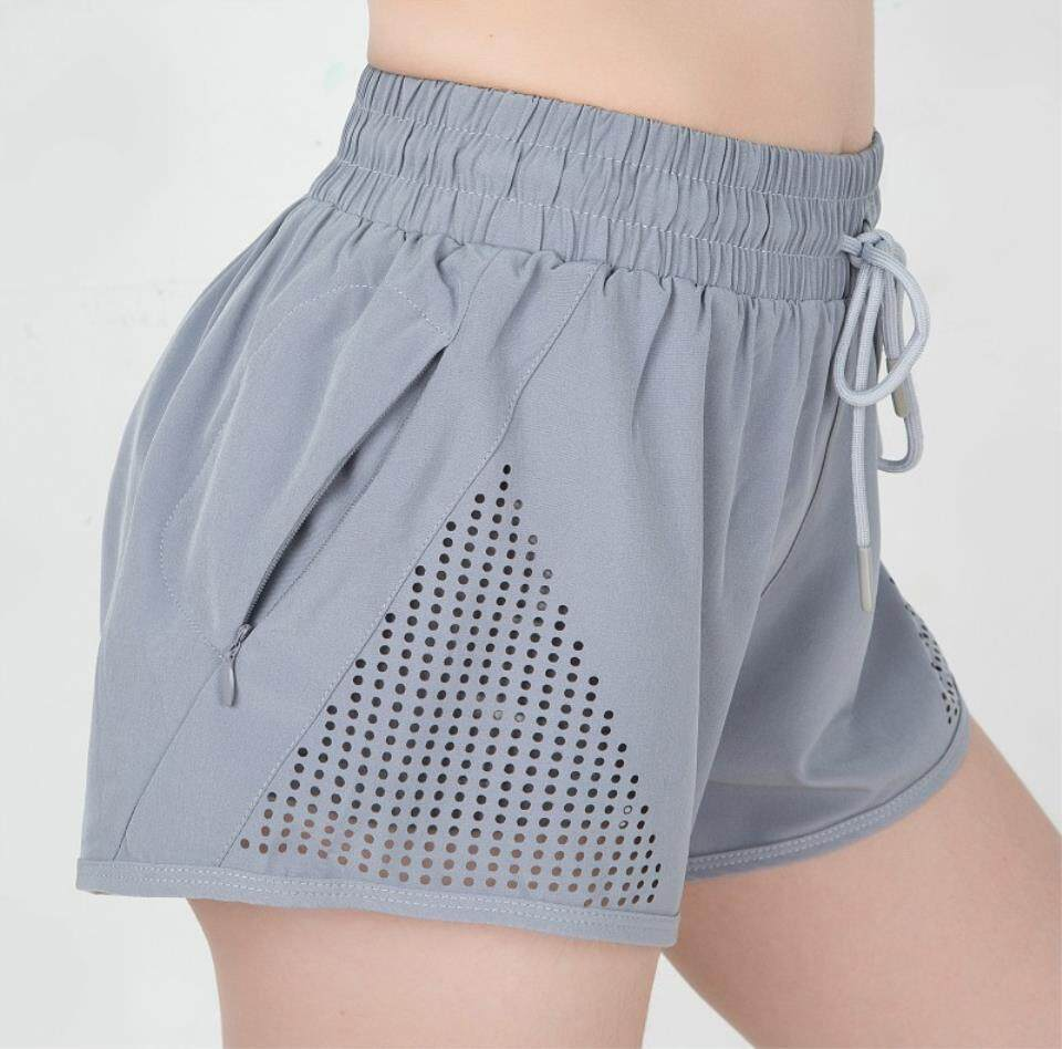 Baru Musim Semi Musim Panas Olahraga Celana Pendek Lari Wanita Yoga Bunga Celana Pendek Fitness