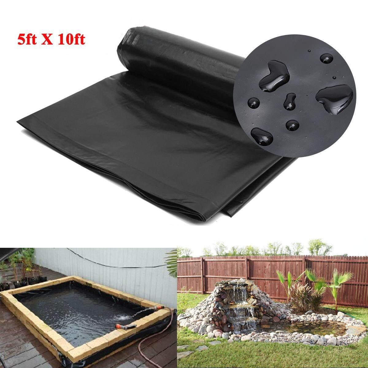5'x10' HDPE Pond Liner Heavy Duty Landscaping Garden Pool Waterproof Liner Cloth