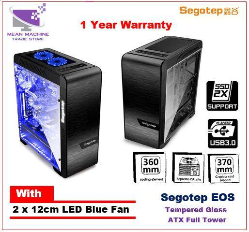 Segotep EOS / ATX Full Tower / Tempered Glass / Aluminium Gaming Casing Malaysia