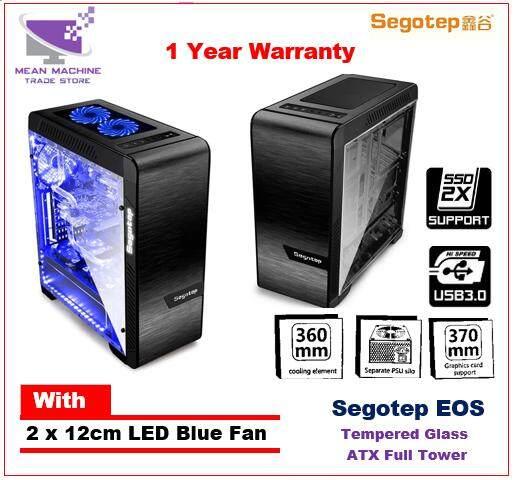 Segotep EOS / ATX Full Tower / Tempered Glass / Aluminium Gaming Casing Malaysia