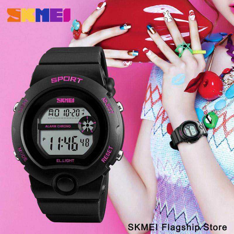 SKMEI Women Sports Watches Alarm Waterproof Watch Ladies Resin Fashion  Digital Wristwatches Female Clock Jam tangan 1712034cb0