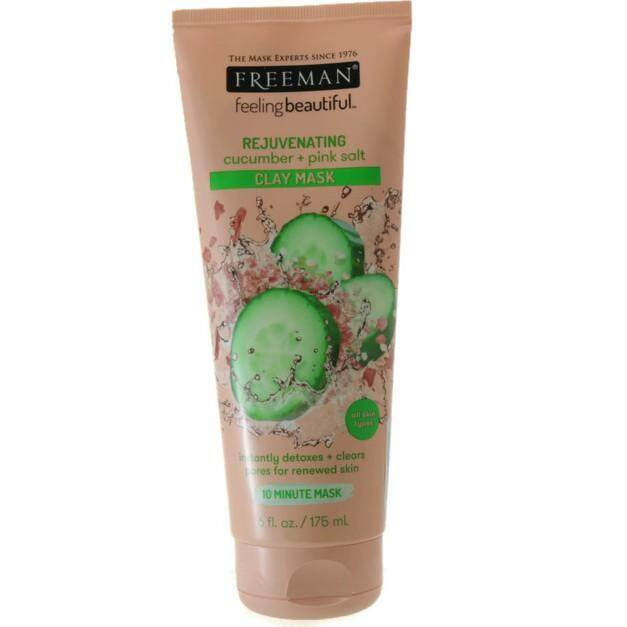 FREEMAN REJUVENATING CLAY MASK 175ML (CUCUMBER + PINK SALT)