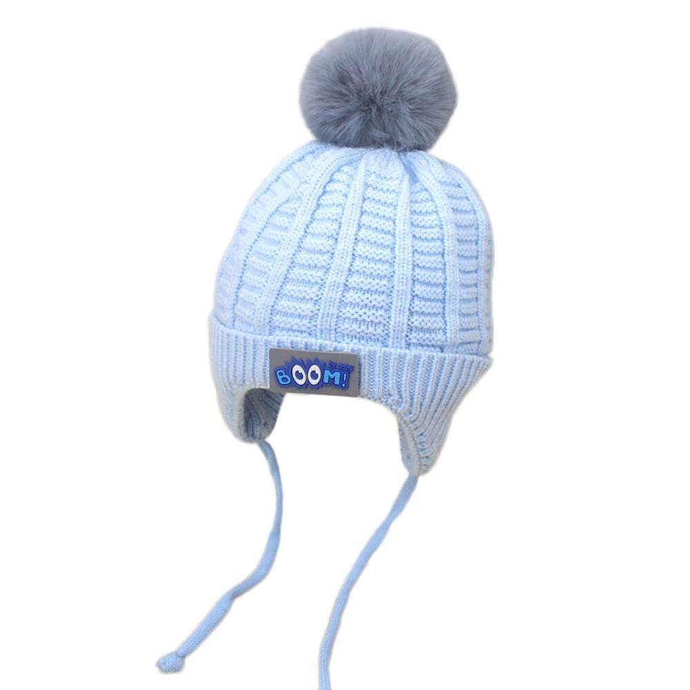 Tideshop Anak Balita Lucu Gadis Bayi Laki-laki Sulaman Hangat Musim Dingin Topi  Kupluk Rajut ec541b0f2d