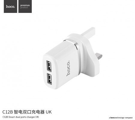 Image result for HOCO C12B 2.4A Smart Dual USB Ports Charger