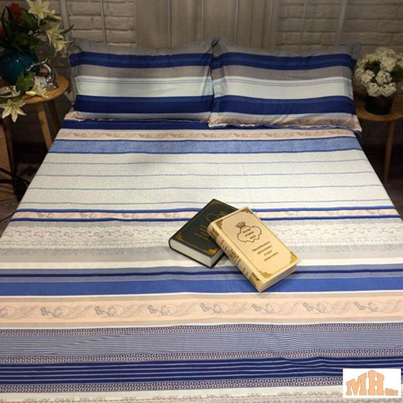 Maylee High Quality Cotton 2pcs Single Fitted Bedding Set 450TC Blue