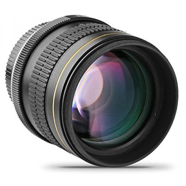 Opteka 85 Mm F/1.8 Aspherical Tele Lensa Potret untuk Nikon D5, D4s, D4, D3x, DF, D810, D800, D750, D610, D500, D7500, D7200, D7100, D5600, d5500, D5300, D5200, D3400, & D3300 Digital Kamera SLR-Intl