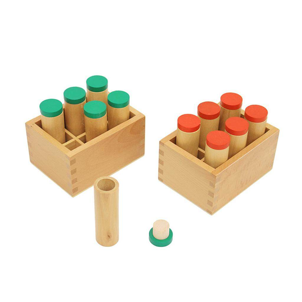 Fityle Wood Montessori Sensorial Auditory Material Container Holder Sound Cylinder