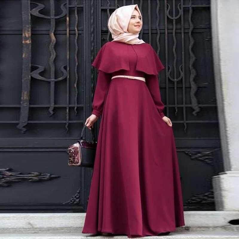 M home 4 Colors Women Cloak Abaya Muslim Dress Turkish Robe Caftan For  Traditional Lady Muslim Long f52b9501c3