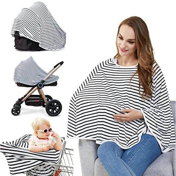 Baby Nursing Cover & Car Seat Canopy - Multi Use Cover for Baby Carseat, High Chairs, Shopping Carts, Lengthened Size Provide 360° Full Privacy Breastfeeding Protection-Best Baby Gift for Boy & Girl - intl