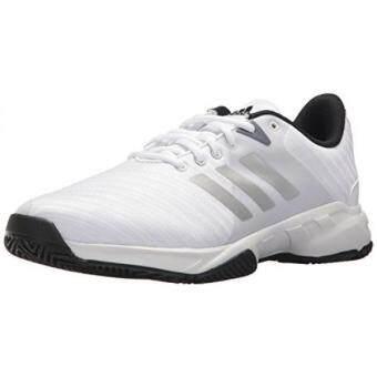 Harga preferensial Adidas Originals Pria Barricade Court 3 Wide Sepatu Tenis  Putih Matte Perak  81f6ccab10