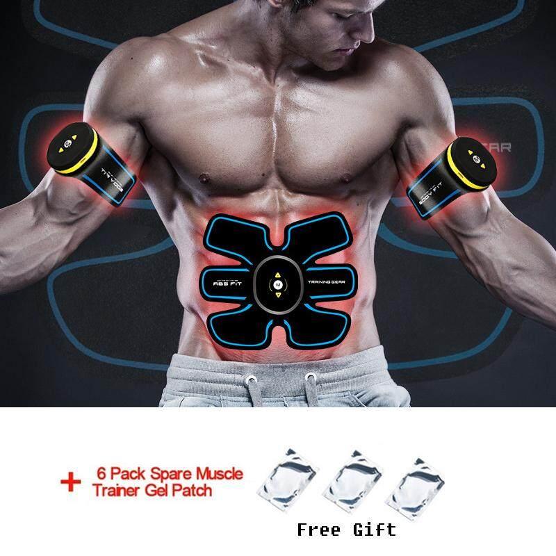 6 Pcs (Asli) Pengendali Jarak Jauh Otot Perut Ems Latihan Otot Gear Pelatih Pembakaran