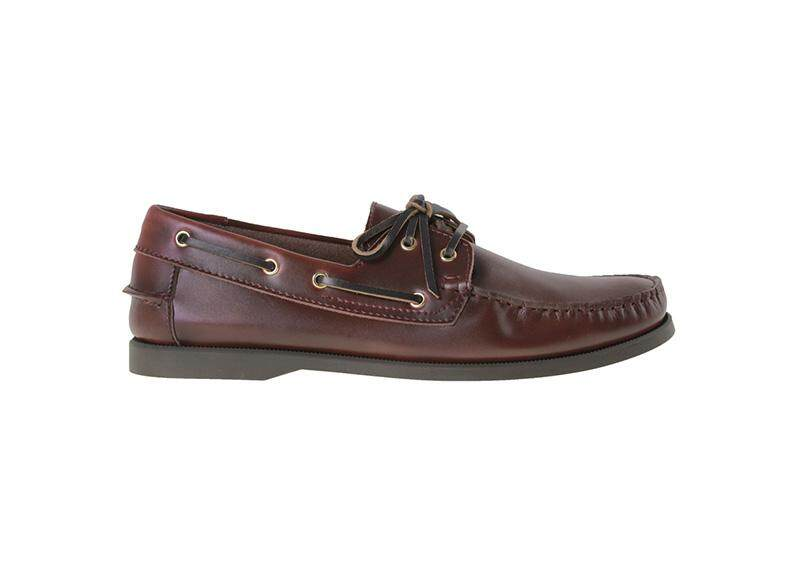 Tomaz 972-5D Leather Boatshoes (Wine)
