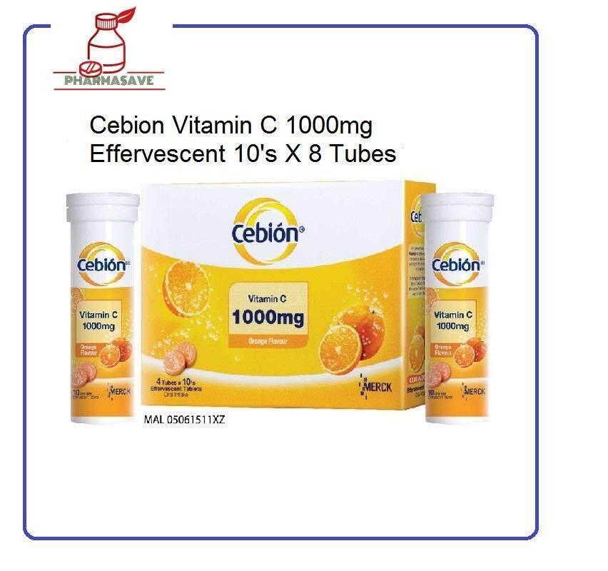 Cebion Vitamin C 1000mg effervescent 8x10's (Free Shipping)