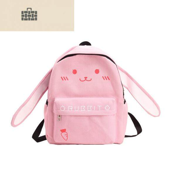 54db4680ce8d  Pink Bunny Kitten Cute Ears Child Canvas Tutorials 1234 Primary Schoolbags  Backpacks