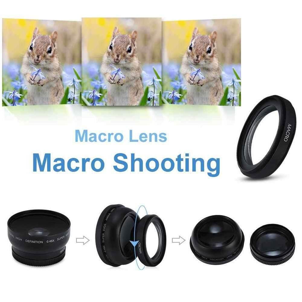 Zloyi Makro Sudut Lebar Lensa Kamera untuk Semua 62 Mm 0.43X Perkakas Bertualang Lensa Kamera Ialah-Intl