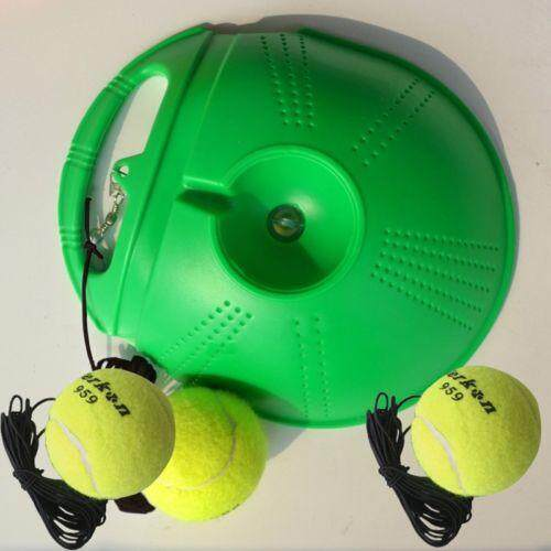 Hot Single Tennis Trainer Portable Fill & Drill Base Youth Practice Training Aid  Green By Glimmer.