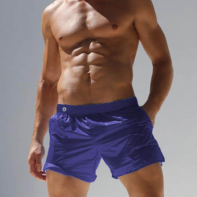 31f5f65840 Quick Drying Thin Loose Transparent Solid Color Mesh Brief Lining Swim  Short for Men