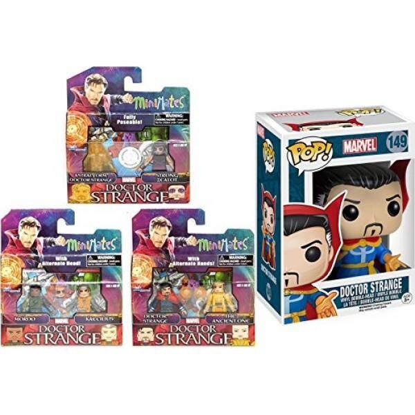 Funko Dr. Aneh 149 Patung Klasik Bobble-Head Marvel Dr. Aneh 3 Pack