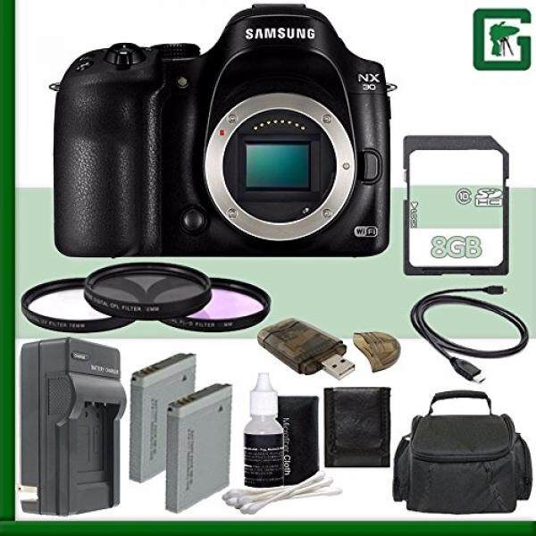 Samsung NX30 Mirrorless Digital Camera Body Only + 8GB Greens Camera Bundle 1