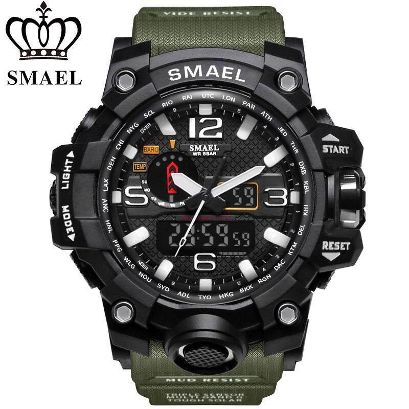 Baru Jam Smael Pria Style G Wateproof S Shock Sport Pria Jam Tangan Merek Terbaik Mewah LED Digital-Watch Tentara Militer Jam Tangan- internasional