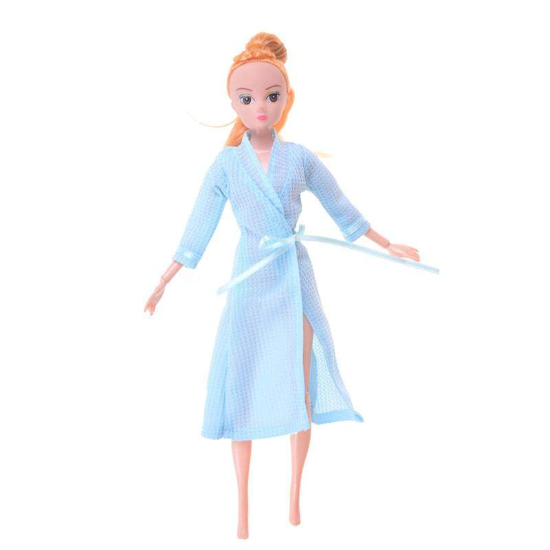 eb6b805c11 Bedroom Pajamas Robe Nighty Bathrobe Clothes For Barbie Dolls Robe Blue