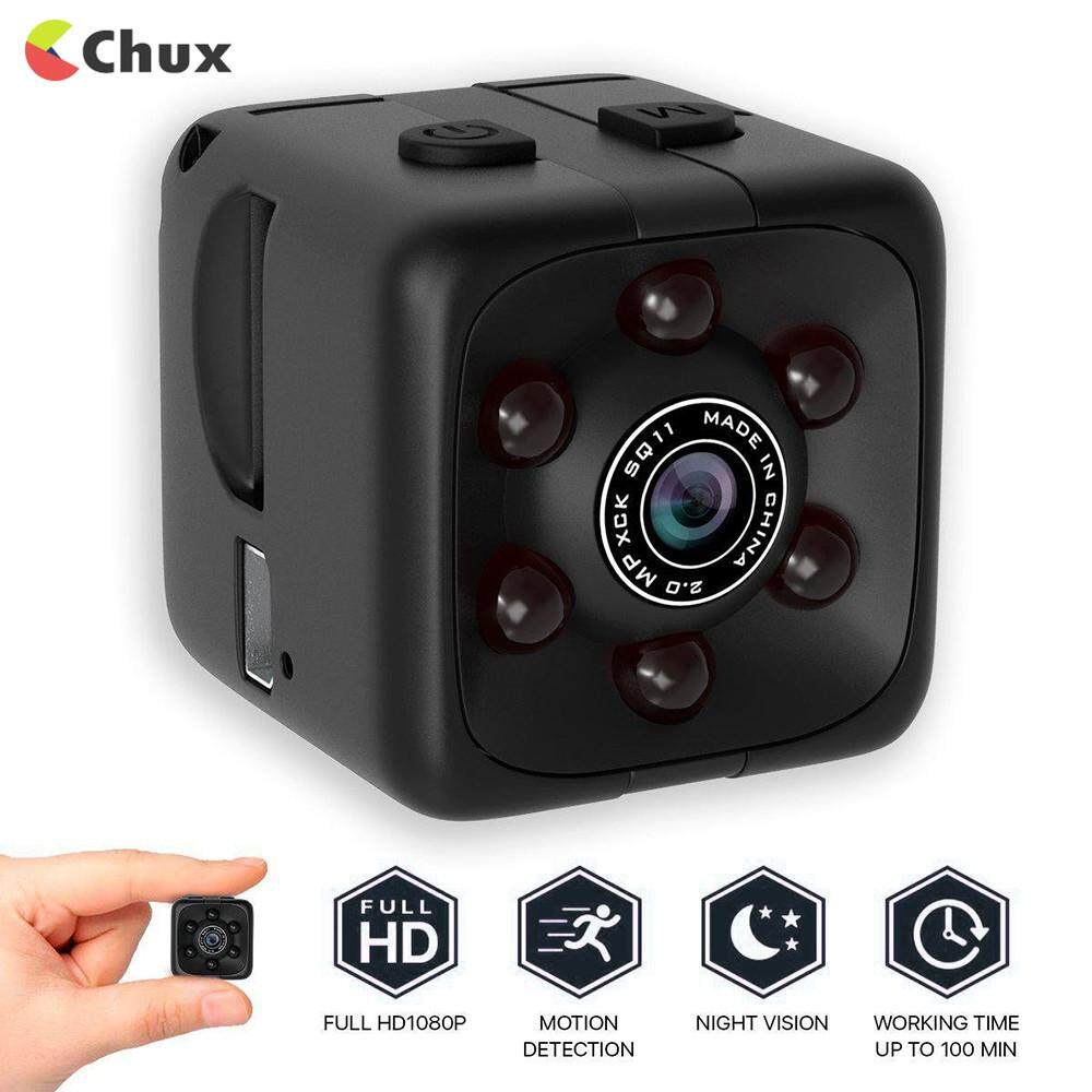 Chux Camera 1080P Portable Cube Mini Security Camera USB Cam with Night Vision/Motion Detection