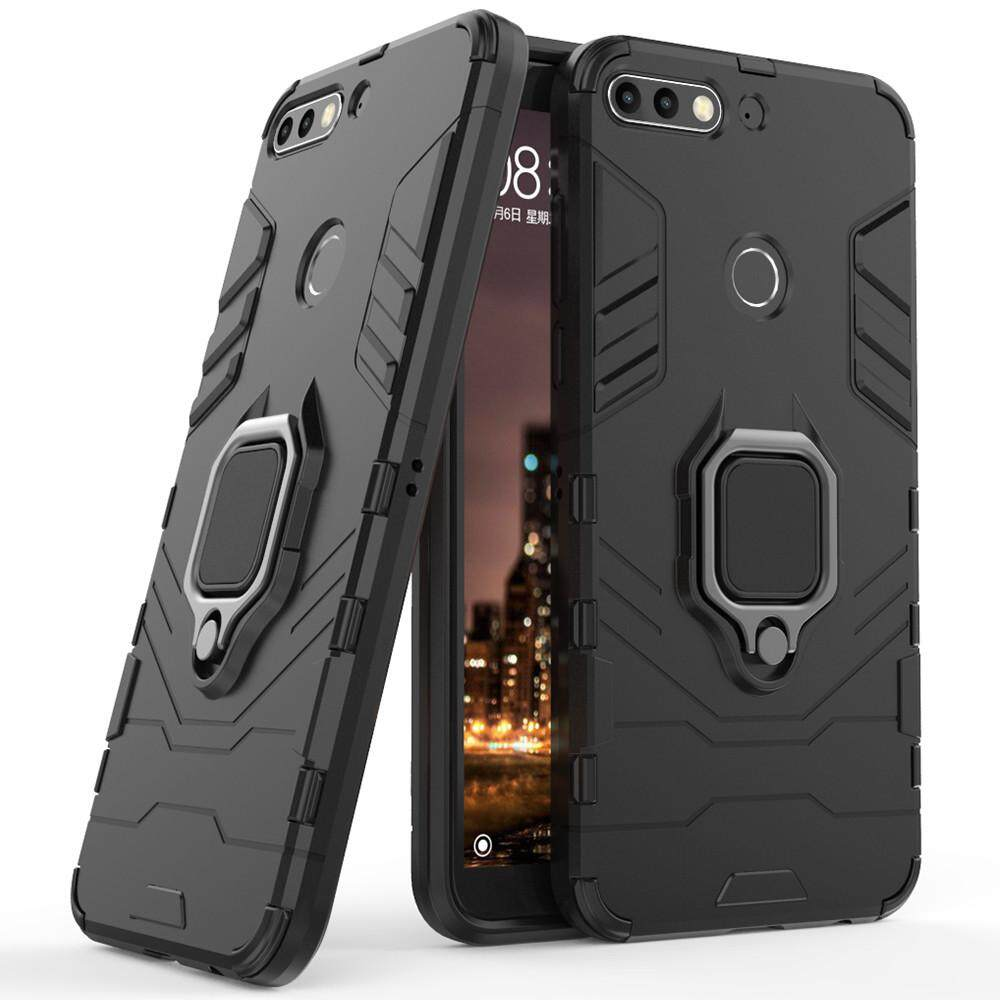For Huawei Nova 2 Lite Case, Silicone TPU and Hard PC Luxury Armor Shockproof Metal