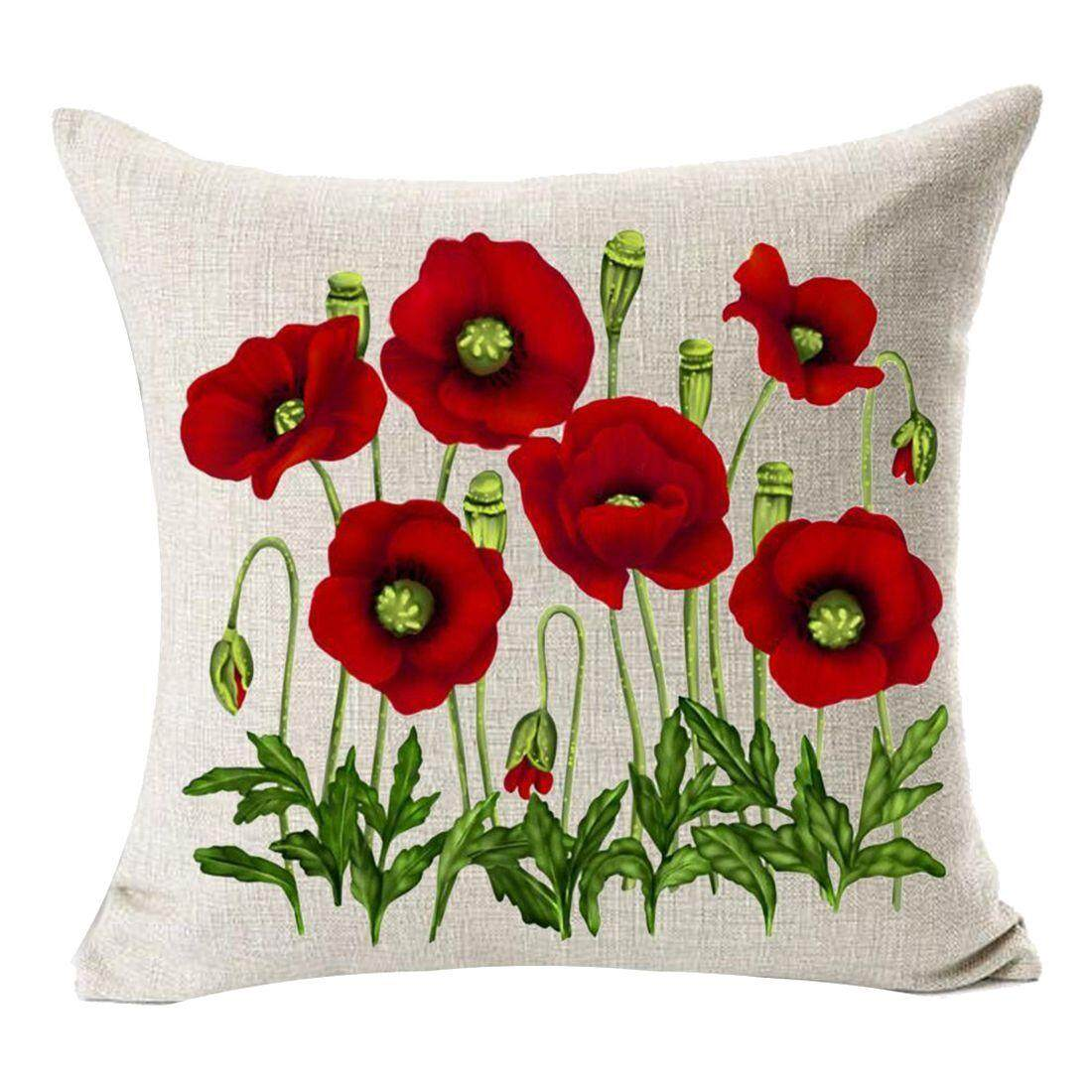 Buy Sell Cheapest Wbs042 Green Square Best Quality Product Deals Houseofcuff Leather Gift Black Enchanting Beautiful Oil Painting Red Poppy Flowers Anniversary Day Present Cotton Linen Home Decorative Throw