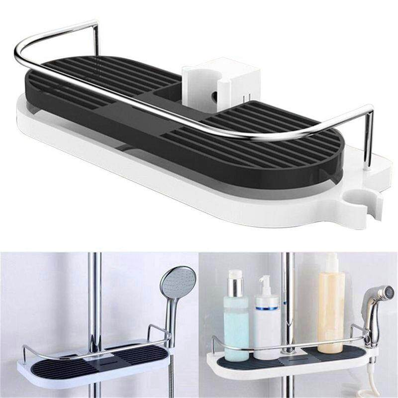 Bathroom Shelf Multifunction Storage Rack Shower Head Shampoo Holder Towel Tray Adjustable Bathroom Shelves Single Tier - Intl By Sunnny2015.