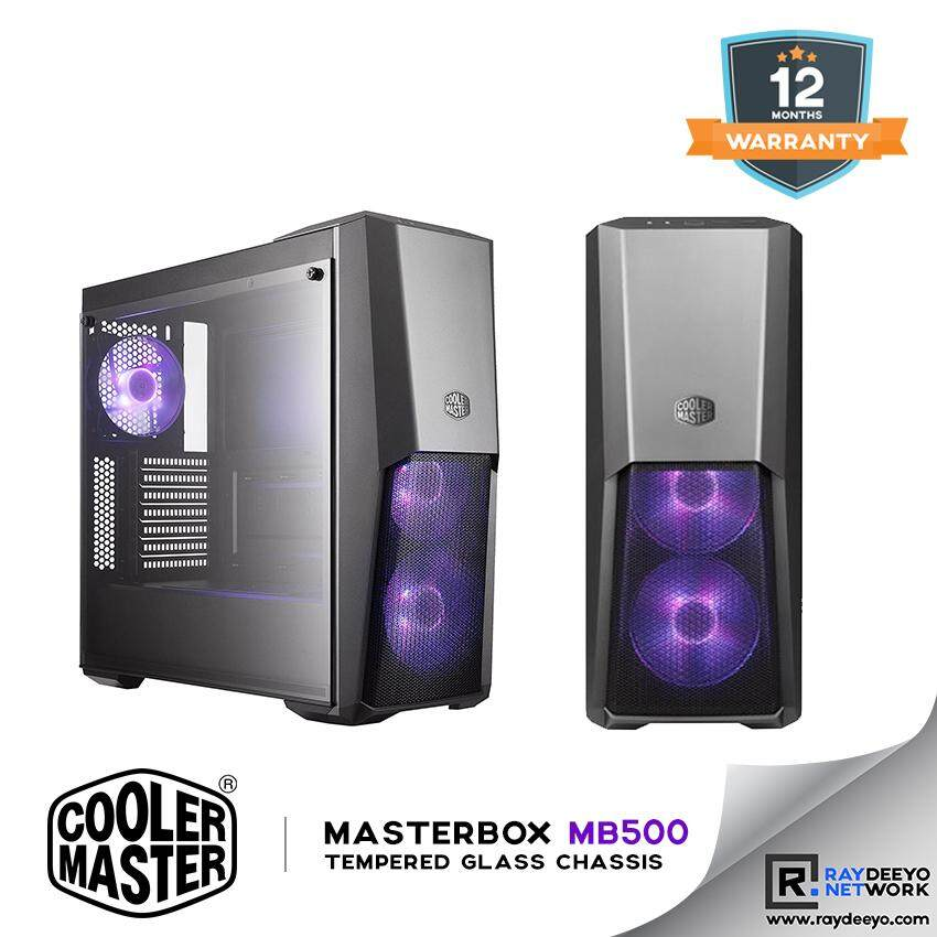 Cooler Master MasterBox MB500 Gaming Chassis- (included 3 RGB Fans) [ATX, Matx, Mini-ITX] Malaysia