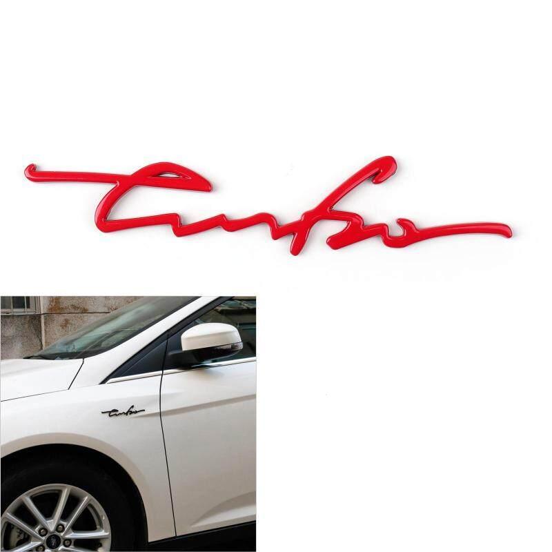 Areyourshop 1PC 3D TURBO Words Sports Car Sticker Metal Emblem Rear Car Trunk Badge Red