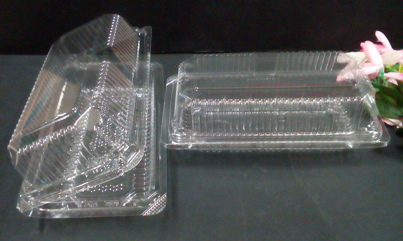 50 Pieces Disposable Plastic container for cake/bread/kuih.same day ship.(clear)