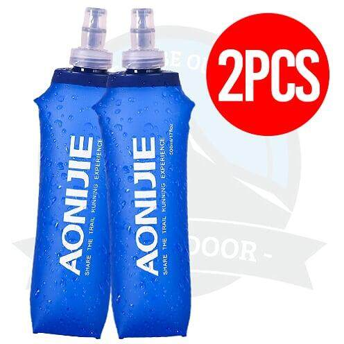[LOCAL DELIVERY] (2 PIECES) AONIJIE 500ml Soft Flask Sports Foldable BPA PVC Free Soft Running Water Kettle Soft Hiking Flask Hydration Bottle
