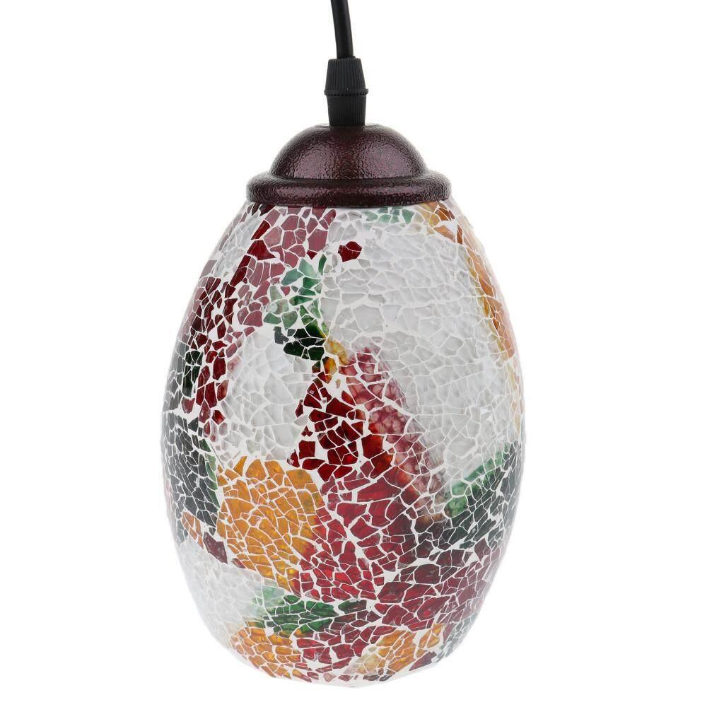 BolehDeals Retro Bar Cafe Pendant Light Mosaic Style Hanging Ceiling Lamp Shade 6