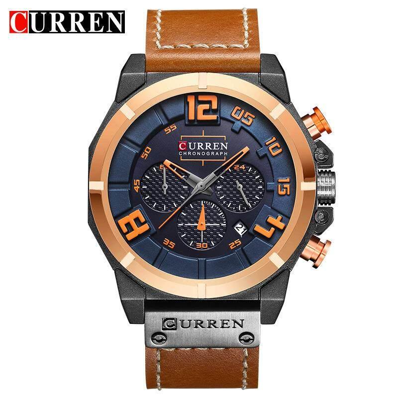 ... CURREN 8287 Mens Jam Tangan Atas Merek Mewah Chronograph Quartz jam tangan Pria 26 Jam Tanggal