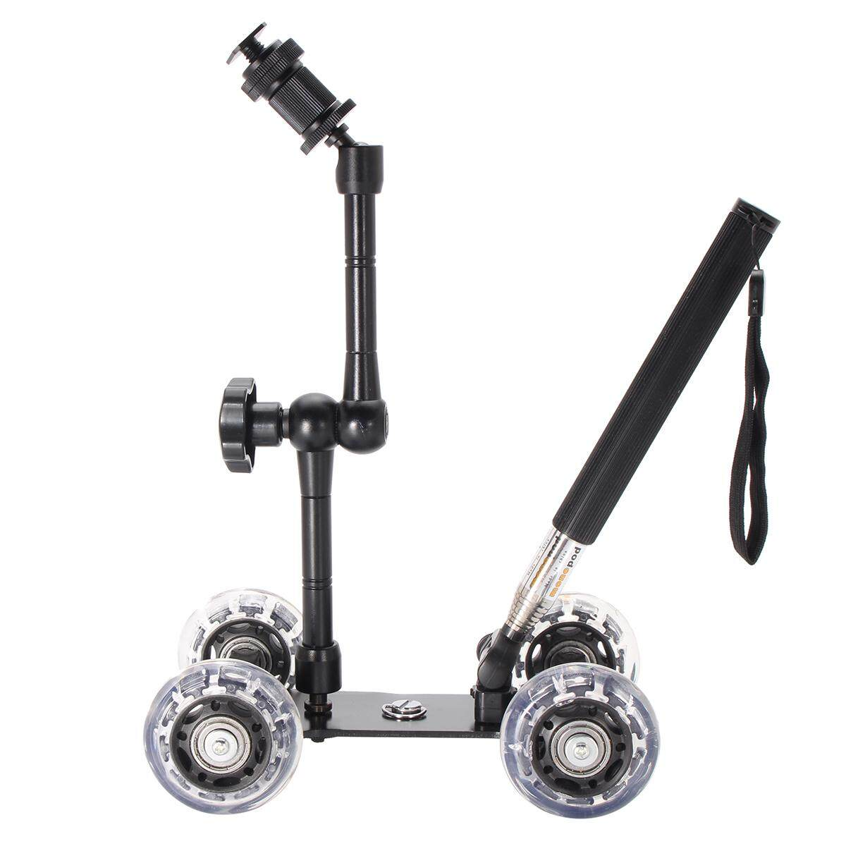 Table Camera Video Wheels Rail Rolling Track Slider Mobile Dolly Car Glide Set By Freebang.