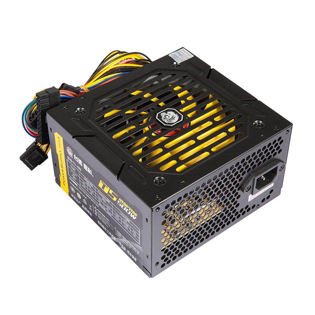 140-260V Rated 500w Host Large Fan PC Power Supply Temperature Control Mute Box Power Supply