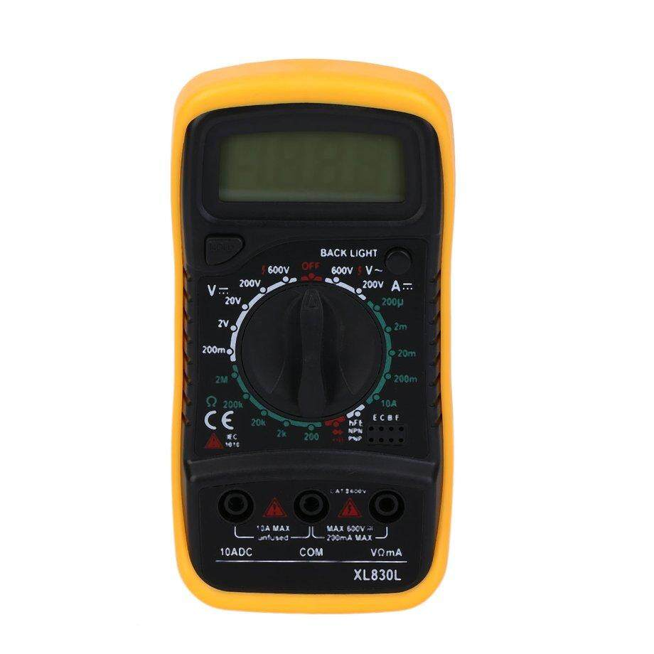 ERA Display Digital Multimeter Xl830L Volt Meter Ammeter Ohmmeter Yellow Tester Yellow - intl