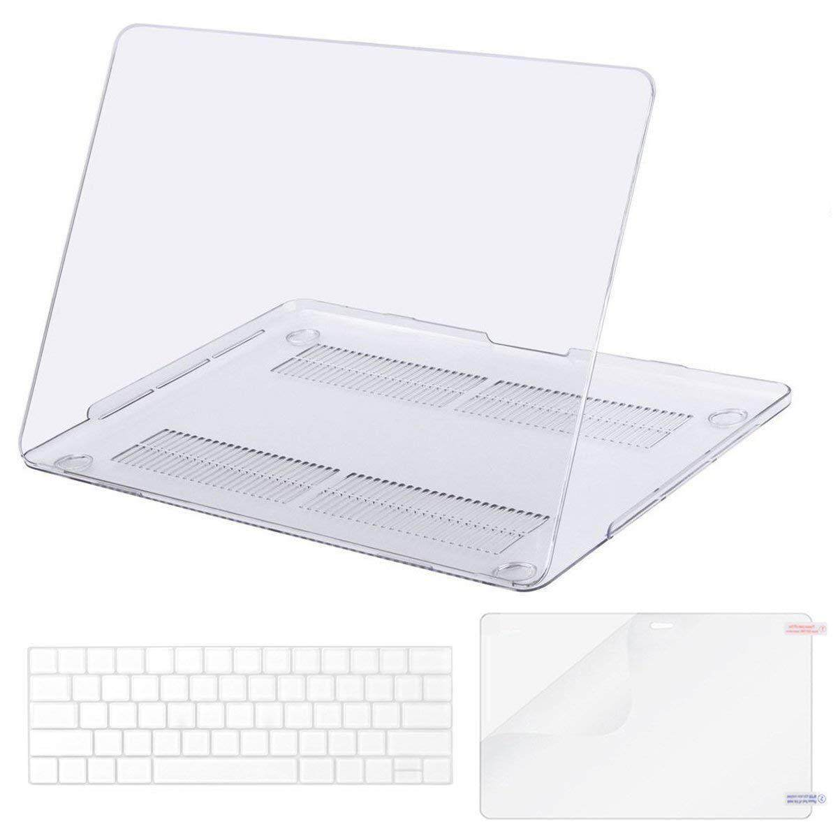 MacBook Pro 15 Case 2018 2017 2016 Release A1990/A1707, Plastic Hard Shell & Keyboard Cover & Screen Protector Compatible Newest Mac Pro 15 Inch