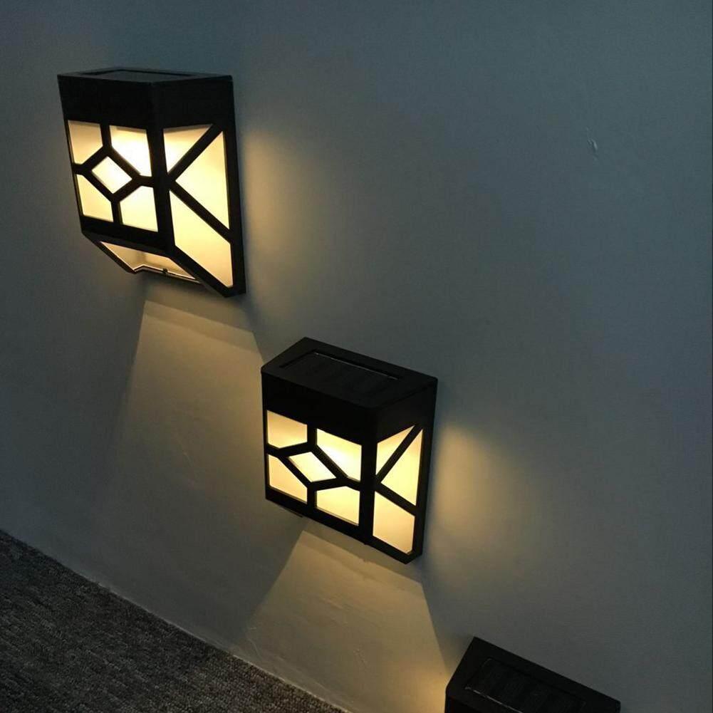 Mới Chạy Bằng Năng Lượng Mặt Trời Đèn LED Ngoài Trời Đèn Cửa Sổ Lưới Phong Cảnh Nhà Vườn Sân Hàng Rào Đèn Cảm Biến Ánh Sáng