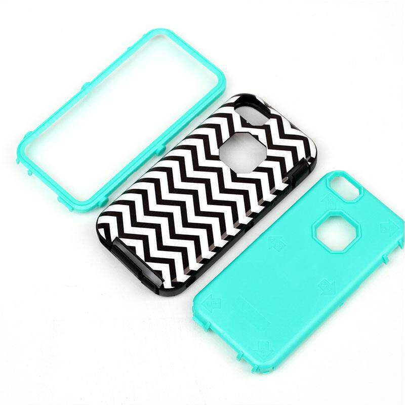 EfashionMall (Clearance Sale) Black Wave Cover Case Skin Protectors For iPhone5 For iPhone5C For iPhone5S 4.0