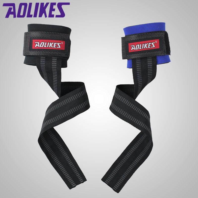AOLIKES 1 Pair Gym Gelang Olahraga Barbel Kebugaran Pelatihan Wristsupport Tali Membungkus dengan Tangan Power Bands