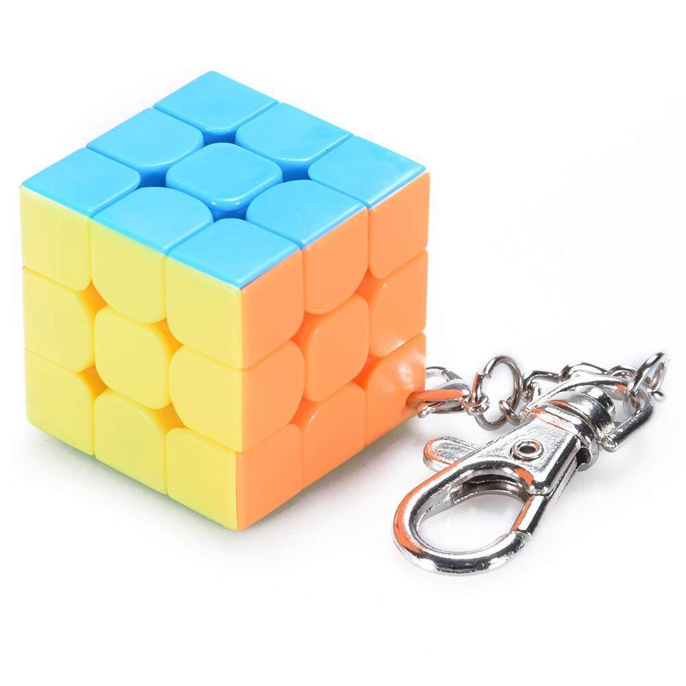 3 Cm Mini Kecil 3X3 Rubik Gantungan Kunci Kubus Pintar Mainan & Cincin Kunci Kreatif Dekorasi