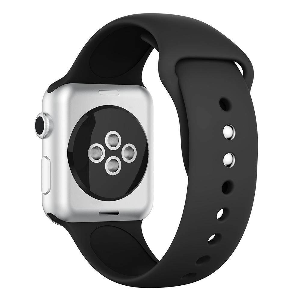 ... Silikon Dual Rivet Gesper Gelang Tali Jam untuk Apple Watch 38 Mm S - 4 ...