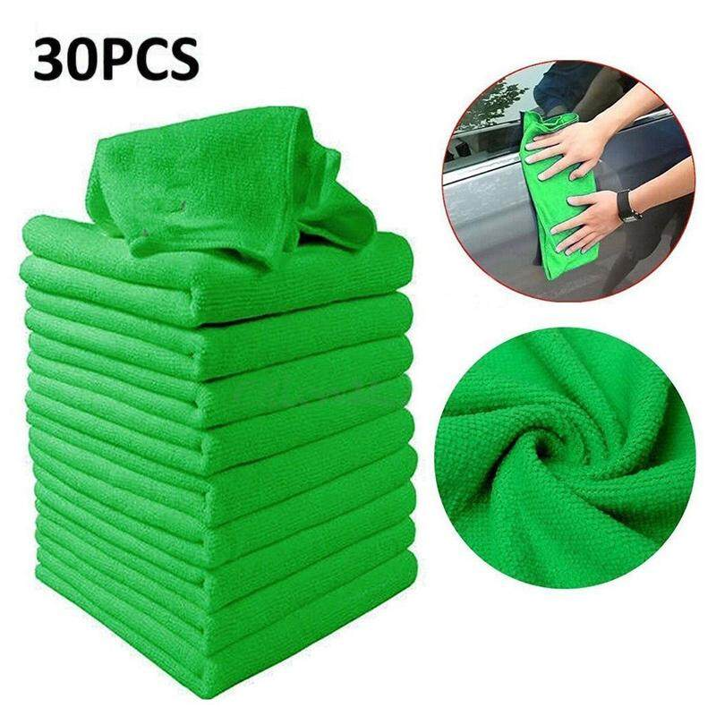30pcs Green Micro Fiber Auto Car Detailing Cleaning Soft Cloth Towel Duster Wash - Intl By Valueshopping-Mal.